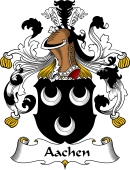 German Wappen Coat of Arms for Aachen