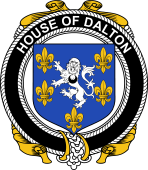 Irish Coat of Arms Badge for the DALTON family