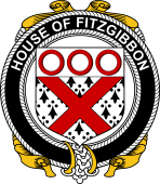 Irish Coat of Arms Badge for the FITZGIBBON family