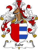 German Wappen Coat of Arms for Sahr