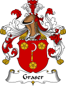 German Wappen Coat of Arms for Graser