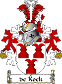 Dutch Coat of Arms for de Kock