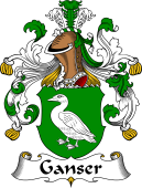 German Wappen Coat of Arms for Ganser