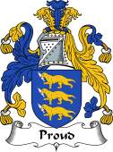 English Coat of Arms for Proud (e)