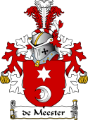 Dutch Coat of Arms for de Meester