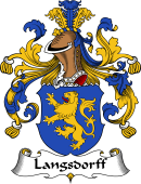 German Wappen Coat of Arms for Langsdorff