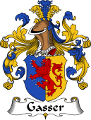 German Wappen Coat of Arms for Gasser