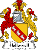 English Coat of Arms for Halliwell or Hollowell