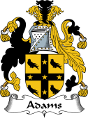 English Coat of Arms for Adams