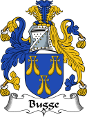 English Coat of Arms for Bugge or Bugg