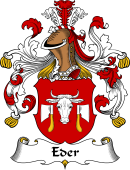 German Wappen Coat of Arms for Eder