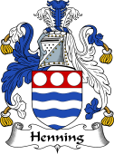 English Coat of Arms for Henning