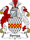 English Coat of Arms for Sprigg (e)