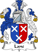English Coat of Arms for Lane