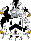 English Coat of Arms for Bunny or Bunney