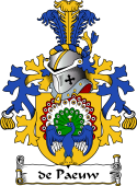 Dutch Coat of Arms for de Paeuw