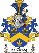 Dutch Coat of Arms for de Clercq