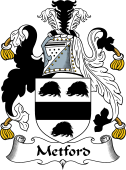 English Coat of Arms for Metford