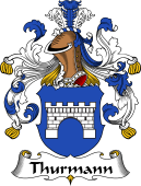 German Wappen Coat of Arms for Thurmann
