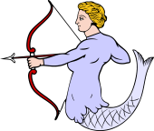 Mermaid Drawing Bow and Arrow 2