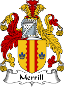 English Coat of Arms for Merrill