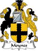 English Coat of Arms for Mohun or Moynes
