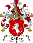 German Wappen Coat of Arms for Kofler