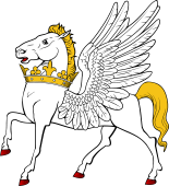 Pegasus Passant Ducally Gorged