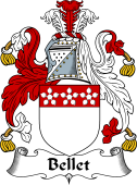 English Coat of Arms for Bellet