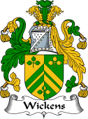 English Coat of Arms for Wickens or Wiggins