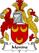 English Coat of Arms for Monins