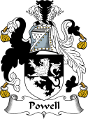 English Coat of Arms for Powell (Wales)