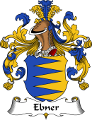 German Wappen Coat of Arms for Ebner