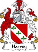 English Coat of Arms for Harvey or Hervey