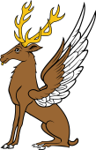 Stag Sejant-Winged