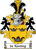 Dutch Coat of Arms for de Koning