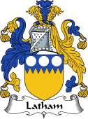 English Coat of Arms for Latham