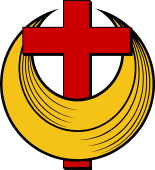 Crescent with Cross Fretted