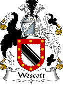 English Coat of Arms for Wescot or Wescott