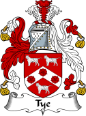 English Coat of Arms for Tee or Tye