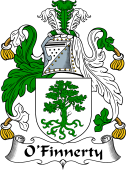 Irish Coat of Arms for O'Finaghty or Finnerty