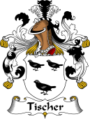 German Wappen Coat of Arms for Tischer