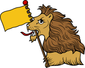 Lion HEH-Banner and Pole
