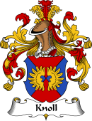 German Wappen Coat of Arms for Knoll