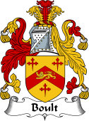 English Coat of Arms for Boult or Bolt