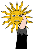 Hand 102 Vested Holding Sun