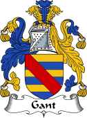 English Coat of Arms for Gant or Gaunt
