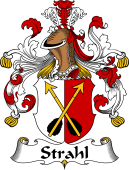 German Wappen Coat of Arms for Strahl