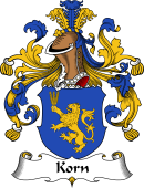 German Wappen Coat of Arms for Korn
