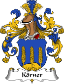 German Wappen Coat of Arms for Körner